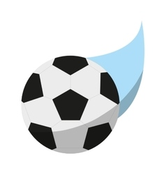 Isolated ball of soccer sport design vector image