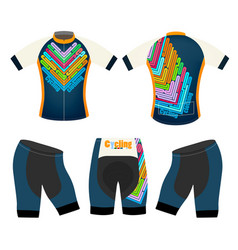 Joyful cycling clothing vector