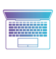laptop computer on top view in degraded purple to vector image