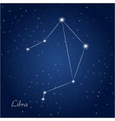 Libra constellation zodiac vector