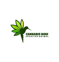 Logo bird simple mascot style vector