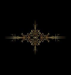 Magic ancient viking art deco vegvisir sign vector