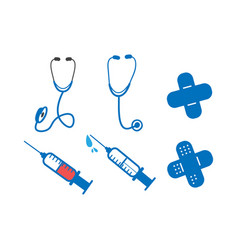 medical icon design set bundle template isolated vector image