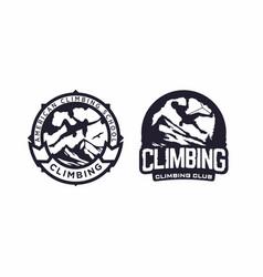 Modern professional logo emblem climbing vector