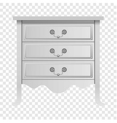 modern white drawer mockup realistic style vector image