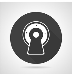 MRI black round icon vector