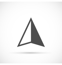 Navigation arrow icon vector image