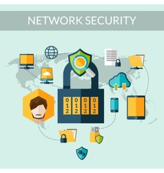 Network Security Concept vector