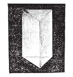 Optical prism vintage engraving vector image