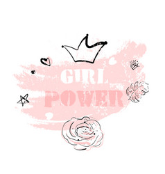 pink blush girl power vector image