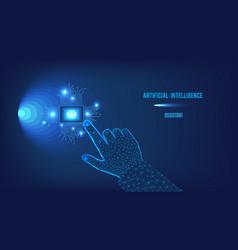 polygonal artificial intelligence vector image
