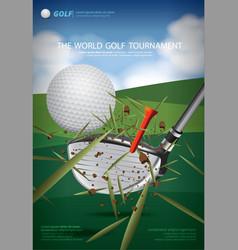 poster golf championship vector image