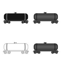 Railway tank caroil single icon in cartoon style vector