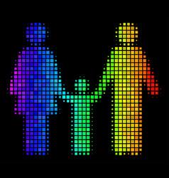 rainbow pixel family child icon vector image