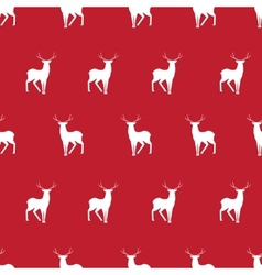 red deer minimalistic silhouette seamless pattern vector image