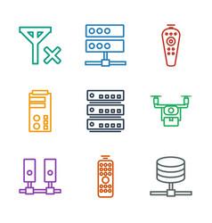 Remote icons vector