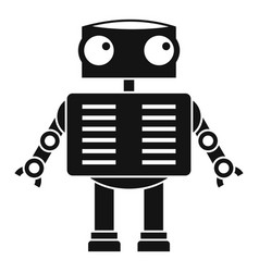 robot with big eyes icon simple style vector image