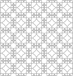 Seamless pattern delicate lines on white vector