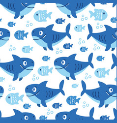 Seamless pattern on a color background with sea vector
