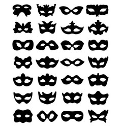 silhouette festive masks vector image