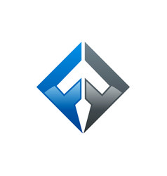 square construction logo vector image