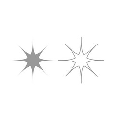 Star icon grey set vector