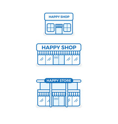 Store icon shop growth business infographics vector