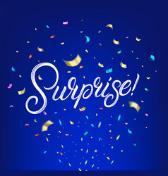 surprise hand written lettering text vector image