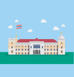 Thai government house building vector