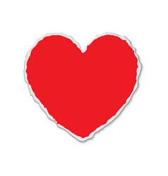 Torn paper heart shape vector