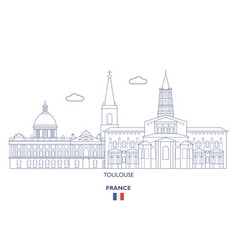 toulouse city skyline vector image
