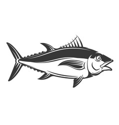 Tuna icon isolated on white background vector