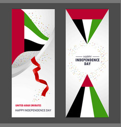 Uae happy independence day confetti celebration vector