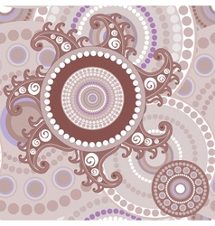 Vintage seamless paisley abstract texture vector image vector image