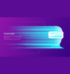 virtual reality abstract concept vector image