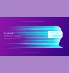 Virtual reality abstract concept vector