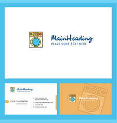 washing machine logo design with tagline front vector image