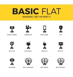 Basic set of video Awards icons vector image