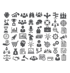 business icons setmanagement finance marketing vector image vector image