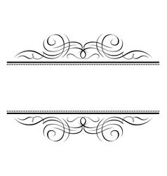 calligraphy vignette ornamental penmanship decorat vector image