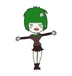 comic cartoon happy vampire girl vector image