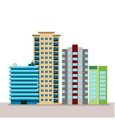 Flat business city urban landscape for decoration vector