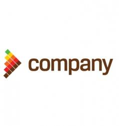 arrow technology logo vector image vector image