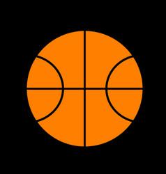 basketball ball sign orange icon on vector image
