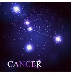 cancer zodiac sign of the beautiful bright stars vector image