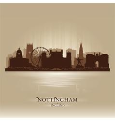 Nottingham England skyline city silhouette vector image