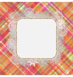 Template frame design for xmas card EPS 8 vector image vector image
