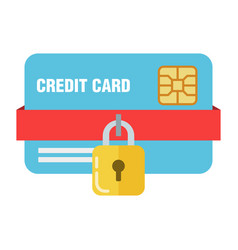 the concept of bank or credit card protection vector image
