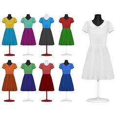 Classic women plain dress template vector