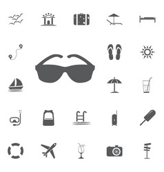 cool black cartoon sunglasses eye frames vector image vector image